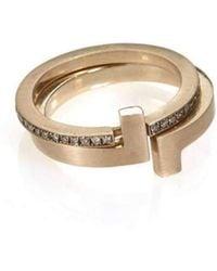 Polina Sapouna Ellis - Antithesis Convertible 14kt Gold Diamond Ring - Lyst