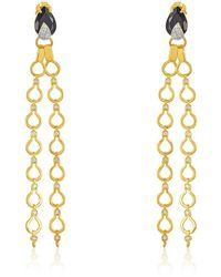 Nehita Jewelry - Nehita Double Drape Diamond & Onyx Earrings - Lyst