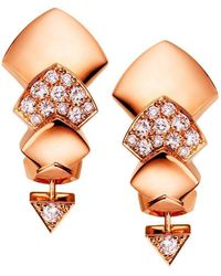 Akillis - Python Rose Gold Studs Earrings - Lyst