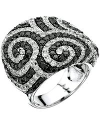 Pinomanna - White Gold & Diamond Optical Collection Ring   - Lyst