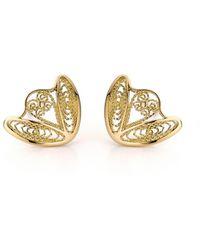 AMMA Jewelry - 18kt Gold Filigree Amour En Cage Earrings - Lyst