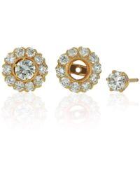 Flawless Jewellery - Asteria Detachable Halo Earrings - Lyst