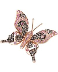 Pinomanna - Natural Chic Butterfly Necklace - Rose Gold - Lyst