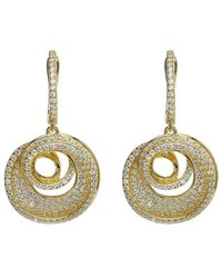 Lustre of London - Yellow Spiral Drop Earrings - Lyst