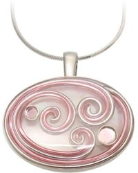 AVA Goldworks - Zinnia Mother Of Pearl Pendant - Lyst