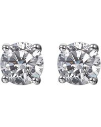 Lustre of London - Solitaire Studs - Lyst