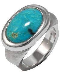 Luke Goldsmith - Silver Eyecandy Turquoise Ring - Lyst
