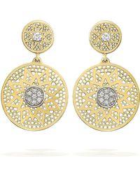 Rosmundo - Sun Earrings In Yellow Gold - Lyst