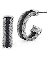 Alor - Black & Gray Noir Small Hoop Earrings - Lyst