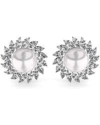 MARCELLO RICCIO - Pearl And Diamond Earrings - Lyst