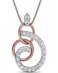 Diamoire Jewels - Hand-carved 10kt Rose Gold Pave Diamond Pendant - Lyst