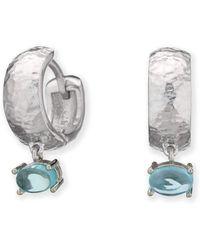 Maviada - Bastia Mini Rhodium Plated Sterling Silver Earrings - Lyst