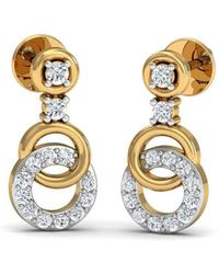 Diamoire Jewels Dazzling Pave Diamond Earrings in 18kt Rose Gold HvrrJ