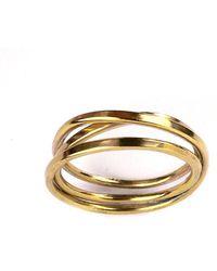 Fran Regan Jewellery Vermeil Cosmic Ring 5 Tier - UK K 1/2 - US 5 3/8 - EU 51 1/4 Ssyjg8