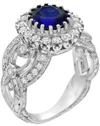 "Dallas Prince Designs - ""bellezza"" Ring With Blue Sapphire And Diamonds - Lyst"