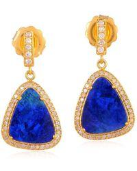 Socheec - Blue Opal Earring - Lyst