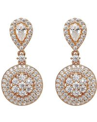 Lustre of London - Rose Cluster Drop Earrings - Lyst