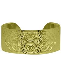 Murkani Jewellery - Heavenly Cuff Bangle In 18kt Yellow Gold Plate - Lyst
