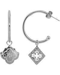 Murkani Jewellery - Sterling Silver Medium Mismatched Hoop Earrings | - Lyst