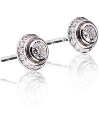Xavier Civera - White Gold Diamond Dome Earrings - Lyst