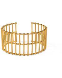 Cara Tonkin - Gold Theda Stripe Cuff - Lyst