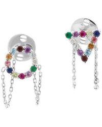 Eshvi - Multi Colour Earrings - Lyst