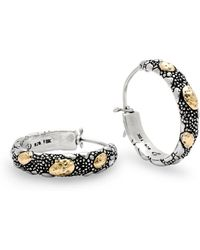 Deni Jewelry - Crocodile Skin Hoop Earring - Lyst