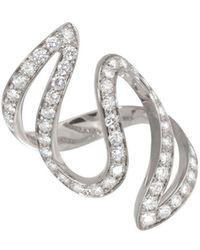 Dada Arrigoni Jewelry - Ivy Pave White Gold Ring - Lyst