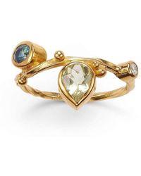 Bergsoe - Gold & Blue Sapphire Seafire Ring | - Lyst