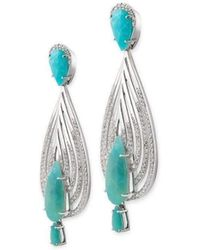 Chavin Couture | 925 Silver Earrings With Blue Opal | Lyst