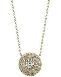 Harry Kotlar - Round Diamond Solitaire Bloom Artisan Pave Necklace - Lyst