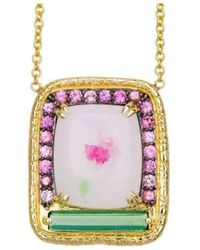 Susan Wheeler Design - Spinel In Marble Padparadasch Sapphires And Tourmaline Crystal - Lyst
