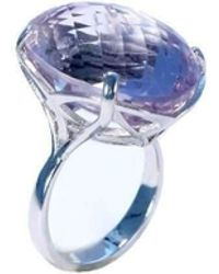 Serena Fox - Infinity Ring In 18kt White Gold With Amethyst - Lyst