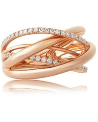 Jooal - Orbit Ring In Rose Gold And Diamonds - Lyst