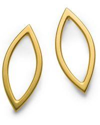 Naomi Tracz Jewellery - Medium Marquise Earrings Gold Plate - Lyst
