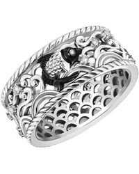 Chekotin Jewellery - Water Element Fish Ring With 31 Diamonds - Lyst