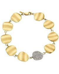 Sandy Leong | Origin Signature Bracelet With Diamond Pave Link | Lyst