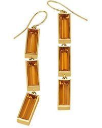 Sandy Leong - Luminous Triple Wire Citrine Earrings - Lyst