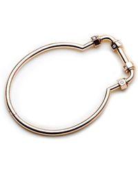 GHADA ALBUAINAIN - Pipe In Rose Gold Bangle Bracelet - Lyst
