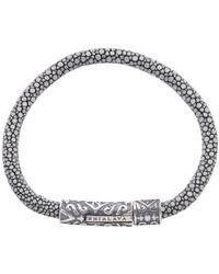Nialaya - Grey Stingray Bracelet With Silver Lock - Lyst