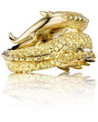 Alexander Jewell - Dragon Tail Ring - Lyst