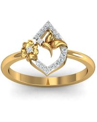 Diamoire Jewels - 18kt Yellow Gold Pave 0.12ct Diamond Infinity Ring - Lyst