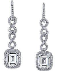 Harry Kotlar | Chantilly Emerald Cut Diamond Drop Earrings | Lyst