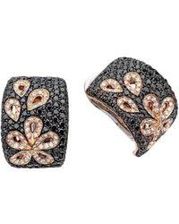 Pinomanna - Rose Gold & Diamond Damasco Stud Earrings | - Lyst