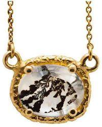 Susan Wheeler Design   Dendritic Quartz Gold Wrapped Necklace   Lyst