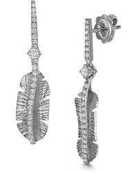 ROX - Diamonds and Thrills - Silver Tiki Diamond Earrings - Lyst