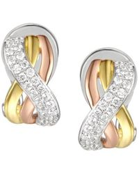 Amore Argento - Triple Plated Trio Clip Earrings - Lyst