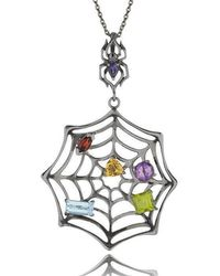 MANJA Jewellery - Black Anansi Necklace - Lyst