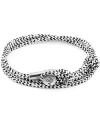 Anchor & Crew - White Noir Dundee Silver And Rope Bracelet - Lyst