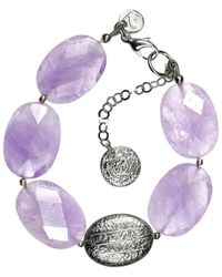 Sima Vaziry - Hope Faceted Amethyst Bracelet - Lyst